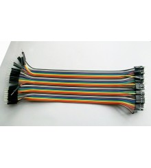 Patchcord Dupont Cable Jumper Wire 1 Pin To 1 Pin Double Female 20cm 40 Pieces