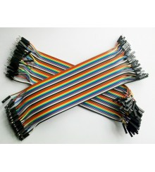 Patchcord Dupont Wire Jumper Cable 1 Pin To 1 Pin Female to Male 20cm 40 Pieces