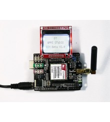 Arduino SIM900 GSM GPRS Shield with UNO and LCD Module and Antenna