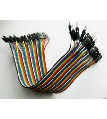 Color Dupont Wire Jumper Cable 1 Pin To 1 Pin Double Male 40 Pieces